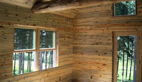 blue stained pine wood paneling home knotty pine
