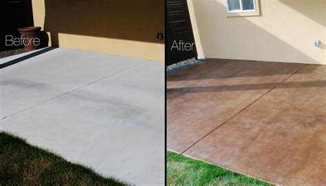 stained sted concrete patio minimalist diy project how to stain a concrete patio concrete