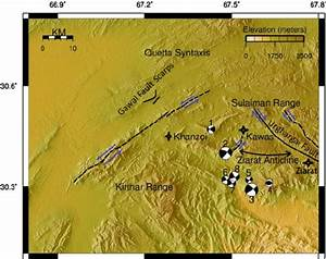 Detailed tectonics of the study area. Black lines are ...