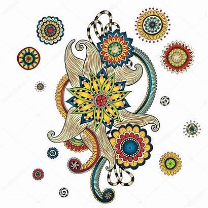 Henna Paisley Mehndi Vector Doodles Illustration Element