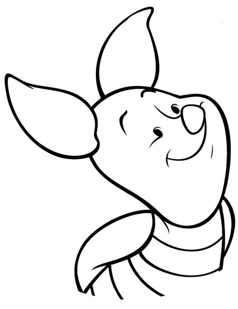 cute piglet for kids coloring page h m coloring pages