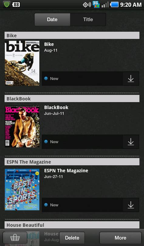 zinio for android zinio now available on all devices running 2 2 android