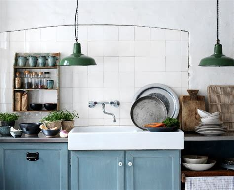 porcelain pendants add style to industrial farmhouse