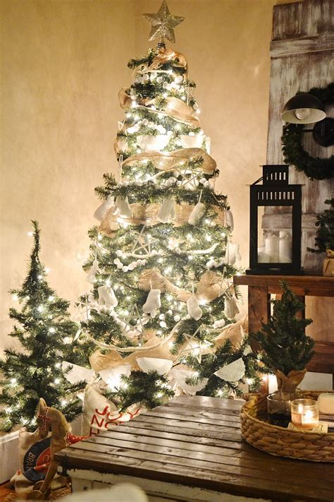 rustic white christmas tree liz marie blog