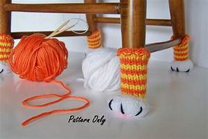 knitting pattern cat paw chair leg covers diy instruction to With chair leg covers diy