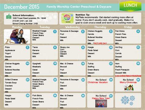 lunch menu for preschoolers daycare food menu food 580