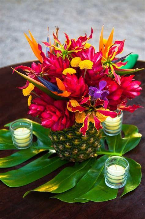 mariage exotique multicolore exotic centerpieces