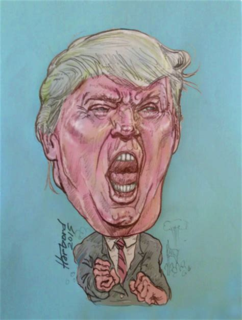 Donald Trump By Harbord   Famous People Cartoon   TOONPOOL
