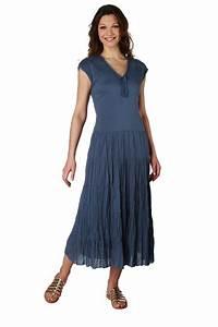 robe longue tissu froisse en coton femme acheter ce With robe longue bapteme femme