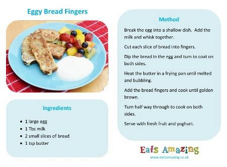 easy recipes  kids eggy bread fingers eats amazing