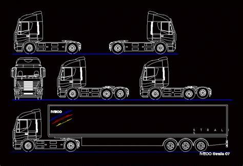 box auto dwg trucks 2d in autocad cad 47 05 kb bibliocad