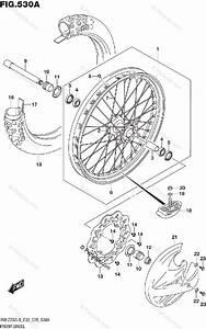 Suzuki Motorcycle 2019 Oem Parts Diagram For Front Wheel