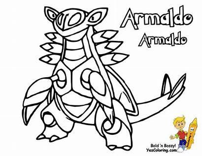 Pokemon Coloring Pages Armaldo Legendary Sheets Printable