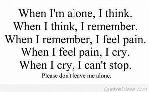 Feeling sad quote with pain