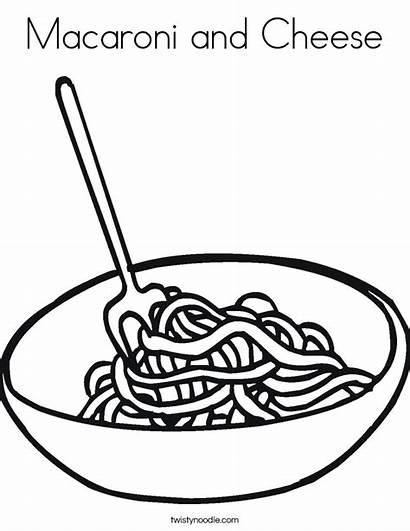 Cheese Macaroni Noodles Coloring Clipart Noodle Bowl