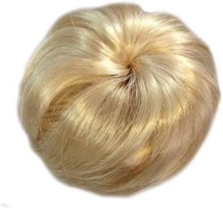 """The classic """"half up, half down"""" look is the one everybody can relate to, regardless of the length of your locks or their thickness. Good Quality Loose Fake Hair Bun In Light Medium Blonde ..."""