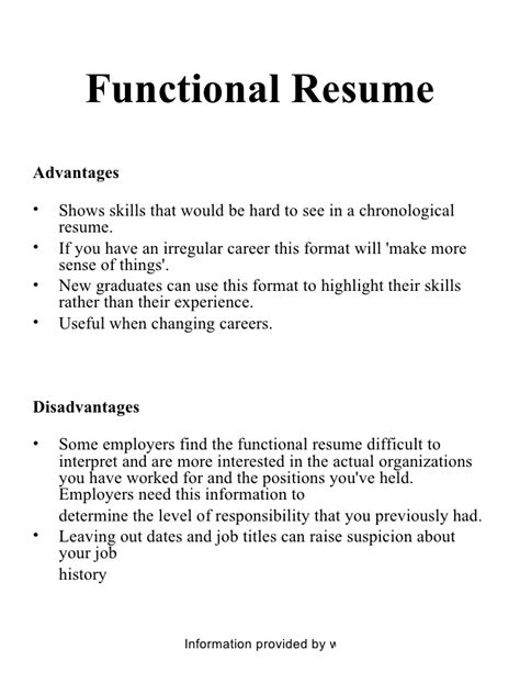 Differentiate Between Chronological And Functional Resume by Chronological And Functional Resume Project