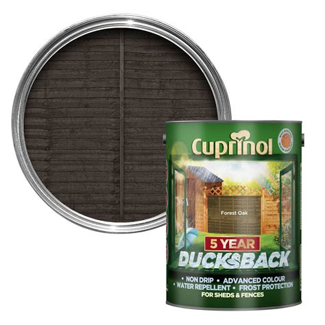 cuprinol  year ducksback forest oak shed fence