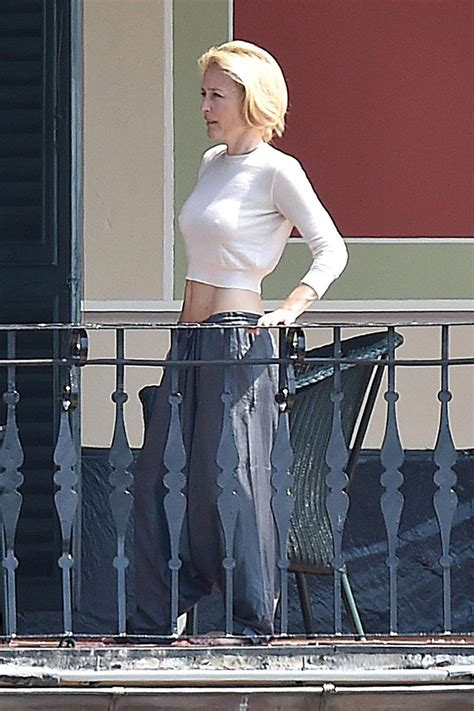 Gillian Anderson Braless Photos Thefappening