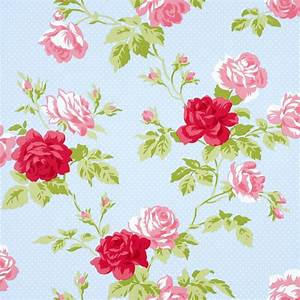 550432 Floral Antique Blue Kidston Look Rose Shabby Chic ...