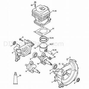Stihl Fs 240 Brushcutter  Fs240ce  Parts Diagram  Crankcase