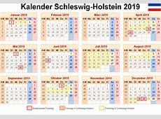Kalender Schleswig Holstein 2019 Ausdrucken, Ferien