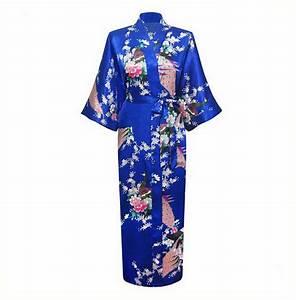blue plus size xxxl chinese women satin robe gown japanese With robe marque geisha
