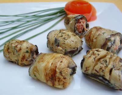 cuisiner aubergine facile recette rouleaux d 39 aubergines 750g