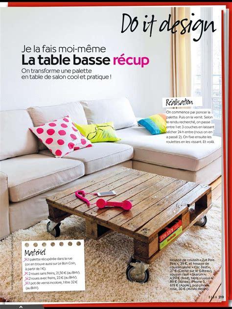 palette table basse diy diy