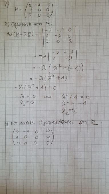 eigenvektoren bestimmen mit nullspalte mathelounge