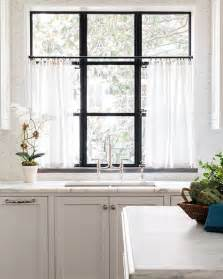 White Sheer Kitchen Curtains by Best 25 Cafe Curtains Ideas On Kitchen