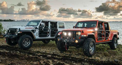 jeep wrangler  gladiator    editions   miami  carscoops