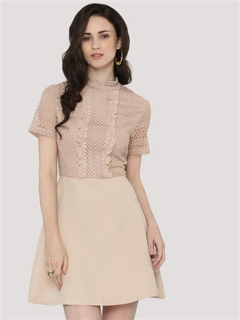 Buy New Look Lace Ruffle Top Skater Dress For Women
