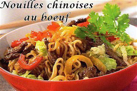 cuisine soja recette de nouilles chinoises au boeuf