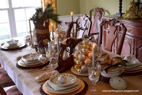 rustic  refined christmas dining room worthing court