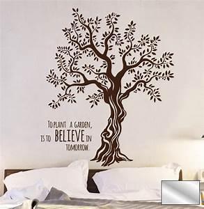 Wandtattoo Baum Mit Bilderrahmen : wandtattoo baum olivenbaum mit spruch m1567 ebay ~ Eleganceandgraceweddings.com Haus und Dekorationen