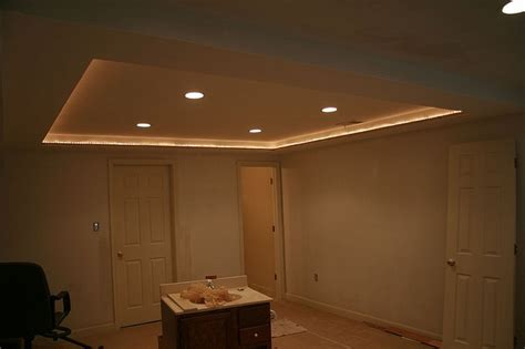 rope lighting in tray ceiling for the home