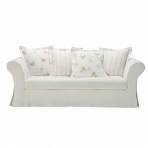 white linen sofa seats 3 4 shabby With canapé d angle shabby chic