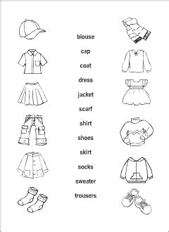 clothes vocabulary  kids learning english matching game
