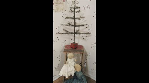 christmas trees primitive simplistic antique decor