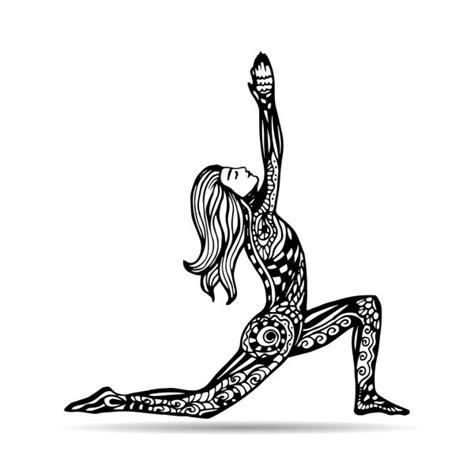 sketch  yoga asana stock vector  glsonts