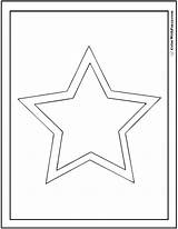 Star Coloring Shape Double Pages Shapes Print Circles Squares Colorwithfuzzy sketch template