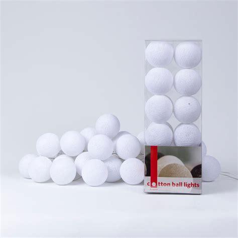 cotton balls lichterkette white lights cotton lights
