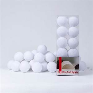 Cotton Balls Lichterkette : guirlande lumineuse cotton ball lights ~ Sanjose-hotels-ca.com Haus und Dekorationen
