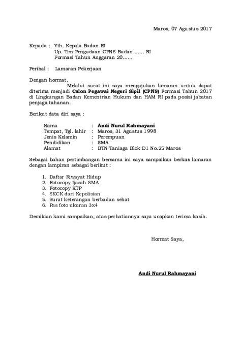 Lamaran Kerja Docx by Doc 2 Contoh Surat Lamaran Kerja Bkn Terbaru