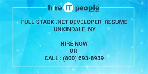 full stack net developer resume uniondale ny hire