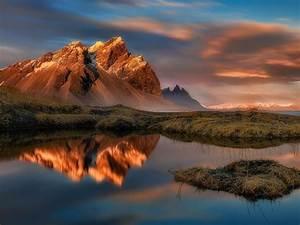 Reflection, In, Water, Stokksnes, Vestrahorn, Mountain, In, East, Iceland, Desktop, Wallpaper, Hd, 1800x2880
