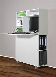 Computer Arbeitsplatz Möbel : 1195 1 moderner wandsekret r od pc schrank wei k che haushalt zilly ~ Indierocktalk.com Haus und Dekorationen