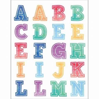 Stickers Alphabet Watercolor Teacher