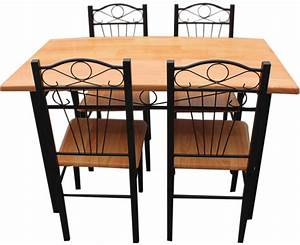 new kitchen dining set with table chairs metal frame wood With metal dining chairs wood table